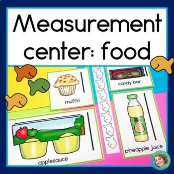 Measurement center: food theme