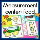 Non Standard Measurement Center Food Theme   Fish Crackers