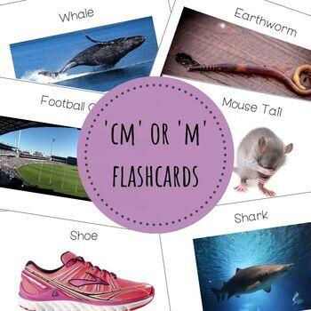Measurement 'cm' or 'm' flashcards