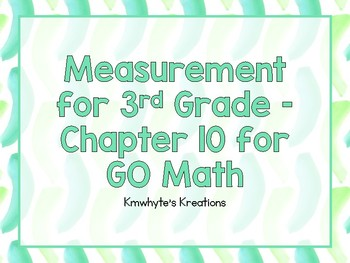 Measurement for 3rd Grade - GO Math
