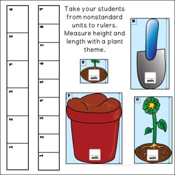 Measurement for Beginners Introduction to Rulers with Plant Theme
