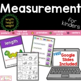 Measurement for Kinders, length, height, weight, measure