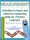 Measurement for Primary Learners: Pre-K, Kindergarten, and First Grade