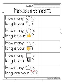 Measurement iPad Activity Recording Sheet