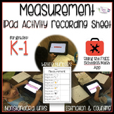 Measurement iPad Activity Recording Sheet