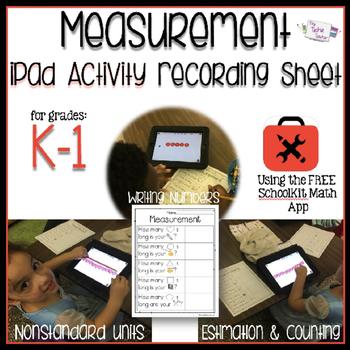 iPad Measurement Activity Recording Sheet
