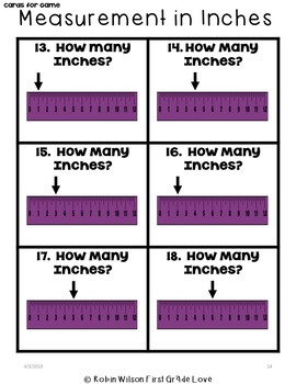 Measurement in Inches Game