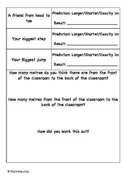 Measurement in Metres!