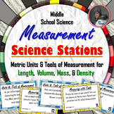 Measurement in Science Stations: Tools and Metric Units