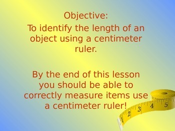 Measurement in centimeters