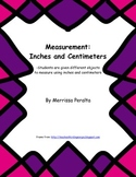 Measurement- inches and centimeters