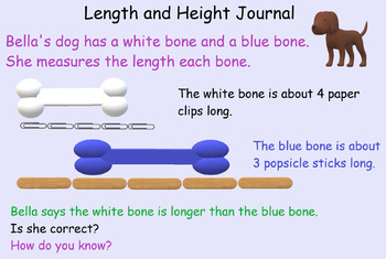 Measurement length and height anchor tasks for Math in Focus/Singapore/Math Talk