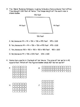 Measurement of Geometric Shapes  Unit Test