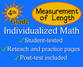 Measurement of Length, 4th grade - Individualized Math - worksheets