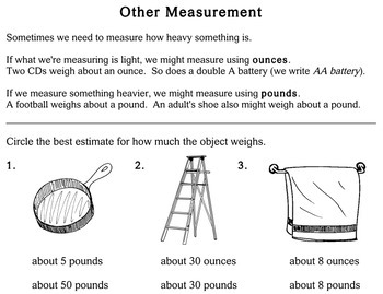 Measurement of Mass and Capacity, 2nd grade - Individualized Math - worksheets