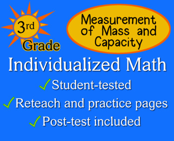 Measurement of Mass and Capacity, 3rd grade - Individualiz
