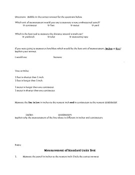 Measurement of Units Review and Test