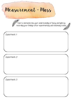 Measurement printable template