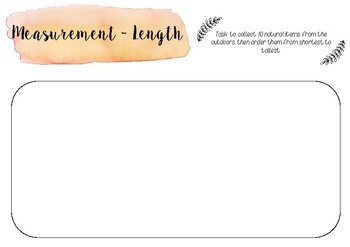 Measurement printable template