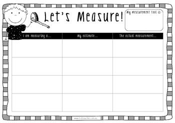 Measurement tasks - informal units of measurement