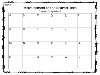 Measurement to the Nearest Inch Task Cards {Print & Go + Digital}