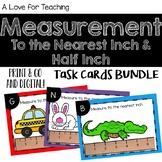 Measurement to the Nearest Inch & Half Inch Task Cards BUNDLE {Print&Go+Digital}