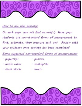 Measurement using Non-Standard Units