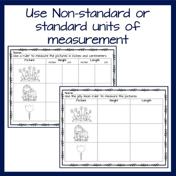 Measurement using nonstandard forms- fun and engaging Spring theme
