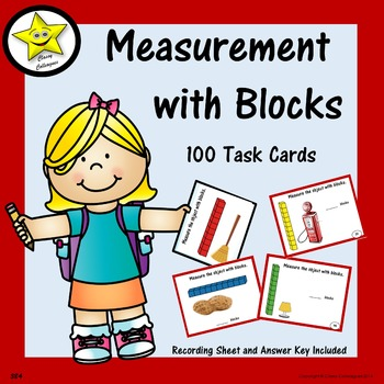 Measurement with Blocks Task Cards