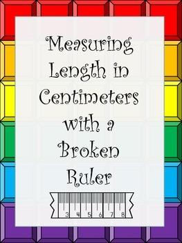 Measurement with Broken Rulers (Not Starting at Zero) Centimeter Worksheet