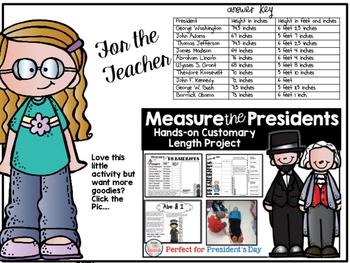 Measure the Presidents Freebie