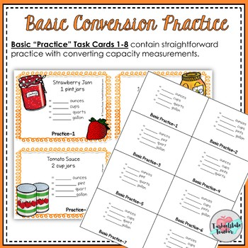 Customary Conversions Measurement Task Cards (Capacity and Weight Word Problems)
