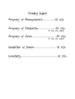 Measurement/Perimeter/Area Project