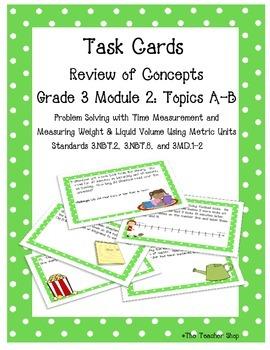 Measurement Task Cards Grade 3 NYS Module 2 (part 1)