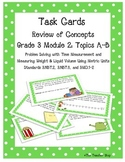Measurement Task Cards Grade 3 NYS Module 2 (part 1)