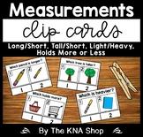 Measurements Longer Shorter Tall Short Heavier or Lighter Holds More or Less