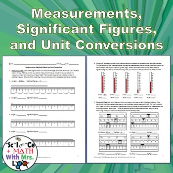 Measurements, Significant Figures, and Unit Conversions: G