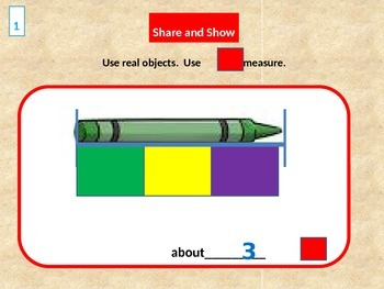 Measurements, Use Nonstandard Units to Measure Length for Visual Learners