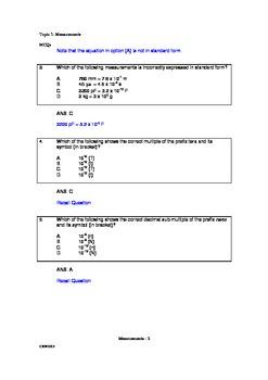 Measurements _ MCQ