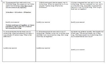 Measurements in wordproblems