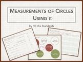 Measurements of Circles - Using π 7.9B