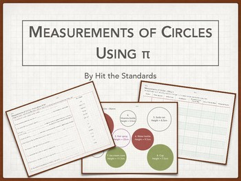 Measuring Objects with Circle Base, using Pi π, Area, Circumference, Volume.