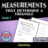 Measurements that Determine a Triangle Worksheet
