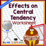 Measures Central Tendency Worksheet (Distance Learning)