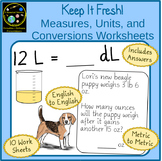Mixed Unit Conversion Worksheets with Story Problems