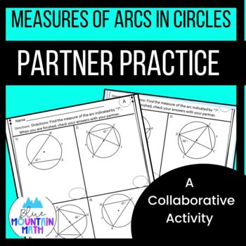 Measures of Arcs in Circles Partner Practice