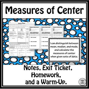 Measures of Center Lesson