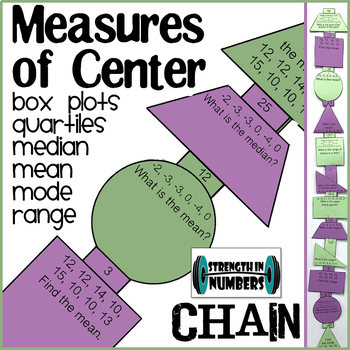 Measures of Center & Box Plot Paper Chain for Display