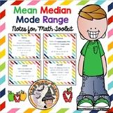 Measures of Center Mean Median Mode Range Central Tendency Notes MMMR