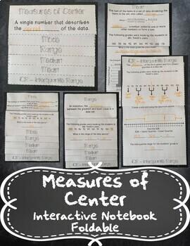 Measures of Center (Mean, Median, Mode, Range, & IQR) INB TEKS 6.12C